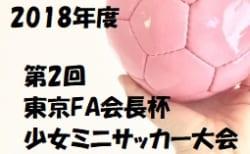 2018年度 第2回東京FA会⻑杯少⼥ミニサッカー⼤会 結果速報!2/23,24