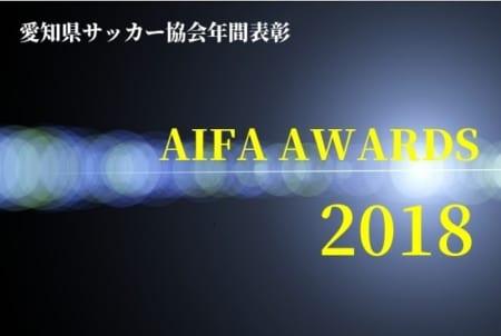 2018年度【愛知県】AIFA アウォーズ2018  1種(大学生)~4種(小学生) 年間優秀選手 掲載!
