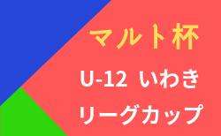 2020年度第10回マルト杯U-12いわきリーグカップ(福島) 2/23結果募集!次回3/13