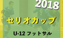 2018年度U-12 セリオカップ フットサル【鳥取県】優勝はウンビーゴFC 情報をお待ちしています