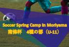 2018年度 第29回 Soccer Spring Camp In Moriyama(南條杯)4種の部(U-11)【滋賀県】組合せ掲載!3/23,24開催!