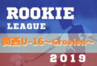 関西U-16~Groeien~2019(グロイエン・U-16ルーキーリーグ)8/22,23結果速報!