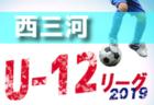 2019年度 西三河地区リーグU-11前期(愛知)最終結果掲載!1部優勝はマルヤスFC、FCヴェルダンA!