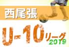 2019年度 U-10西尾張リーグ (愛知)  11/9結果更新!次回日程情報もお待ちしています!