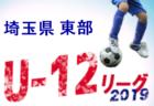 2019年度 第13回埼玉県第4種リーグ 東部南地区 4月~開幕!組み合わせ決定!