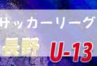 高円宮杯 JFA U-15サッカーリーグ2019長野【中信地区】優勝は松本バロンFC!