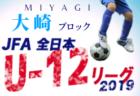 【メンバー】2019 東北トレセンリーグ(9/21,22)福島県選抜U-14・U-13