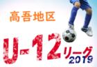 結果募集中 U-12サッカーリーグ中央地区北部 | 2019年度 高知県U-12サッカーリーグ 中央地区北部ブロック