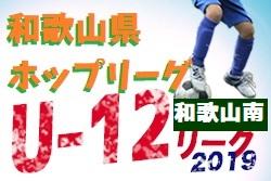 JFA U-12サッカーリーグ2019和歌山ホップリーグ 和歌山南ブロック 9/15,16結果速報!