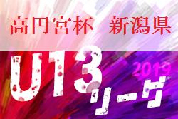 順位リーグ組合せ掲載! 2019年度 NiFA U-13サッカーリーグ 新潟 9/22開幕