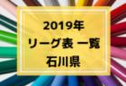 2019年度 富山県リーグ表一覧