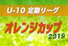 2019年 オレンジカップ U-10定期リーグ 岐阜 決勝大会1/26結果速報をお待ちしています!