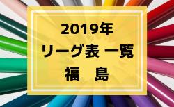 2019年度 福島県リーグ表一覧