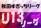 【11/14リーグ表更新】次回開催情報募集!高円宮杯U-13 2019秋田県すぎっちリーグ