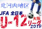 2019年度U-12リーグ 第43回全日本少年サッカー大会 北河内地区(大阪)8/3までの結果入力!