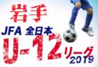 JFA U-12サッカーリーグ2019岩手 一関地区最終結果掲載!