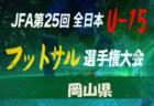 2019年度 第34回日本クラブユースサッカー選手権(U-15)大会 中国地区予選 最終結果掲載!
