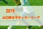 結果情報募集 2019山口県女子サッカーリーグ  次節7/21