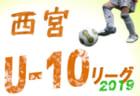 2019年度 神戸市U-12リーグ【2部・後期摩耶リーグ】兵庫 全日程終了 優勝は西灘A!