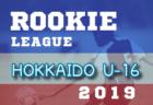 結果募集 ルーキーリーグU-16 | 2019ルーキーリーグU-16 北海道 次回6/1