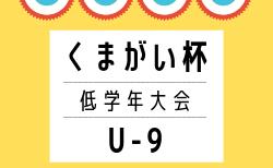 【組合せ募集】2019年度 くまがい杯U-9・低学年大会(宮城)県大会 11/3開催