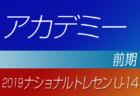 2019年度ナショナルトレセンU-14〈前期〉中国参加者メンバー発表!!