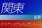 2019年度ナショナルトレセンU-14〈前期〉関東参加者メンバー発表!!