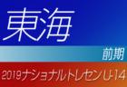 2019年度ナショナルトレセンU-14〈前期〉北海道参加者メンバー発表!!