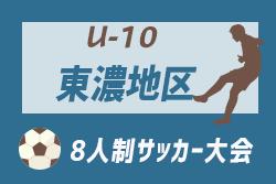 7/28決勝トーナメント情報お待ちしています! 2019年度 第16回 東濃地区少年サッカー選手権大会(8人制)U-10