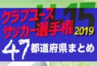【2019年度 クラブユースサッカー選手権U-15まとめ】全国出場全48チームが決定!クラブチームの頂点へ!【47都道府県】