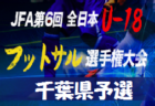 優勝は翔凜高校 フットサルU-18千葉県予選 開催4/6,13   第6回全日本ユースU-18フットサル大会千葉県予選