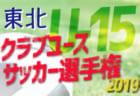 【優勝はベガルタ仙台!】2019年度 日本クラブユースサッカー選手権(U-15)大会東北大会