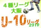 高円宮杯U-18サッカーリーグ2019 阪神リーグ【兵庫】4部残り6試合!1~3部全試合終了
