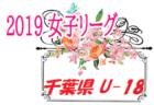 7/21までの結果募集!2019年度 千葉県女子U-18サッカーリーグ  次節は9/29開催