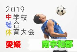 2019年度 愛媛県南宇和郡中学校総合体育大会サッカー競技の部 優勝は城辺中学校