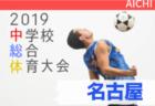 2019年度 第56回 名古屋市中学総体 サッカーの部 愛知【ベスト8決定】次回 準々決勝7/24開催!