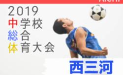 2019年度 西三河中学総体 愛知【2回戦7/23結果速報】 情報お待ちしています!