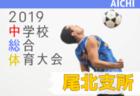 2019年度 尾北支所中学総体 サッカーの部 愛知西尾張  優勝は大口町立大口中学校!