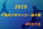 代表チーム決定!2019年度第34回千葉県少年サッカー選手権4年生大会6ブロック予選