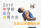 2019年度 三井のリハウスU-12サッカーリーグ 東京 第7ブロック前期 全試合終了!結果掲載!