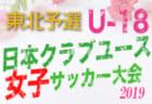 5/26結果速報 クラブユース女子東北大会  | XF CUP 2019 第1回 日本クラブユース女子サッカー大会(U-18)東北地域大会