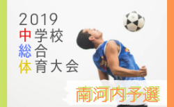 中央大会出場校3校決定 大阪中学総体 南河内地区予選 | 2019年度 大阪中学校サッカー選手権大会 南河内予選