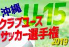 2019OFA第14回沖縄県クラブユース(U-15)サッカー選手権大会