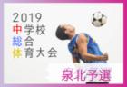 優勝は金剛 大阪中学総体 南河内地区予選 | 2019年度 大阪中学校サッカー選手権大会 南河内予選