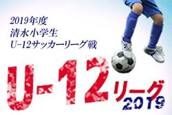 2019年度 清水小学生U-12サッカーリーグ戦 清水クラブ暫定首位浮上!(7/10現在)