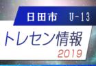 2019年度日田市トレセンU-13メンバー掲載 大分