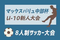 12/8,15情報募集!2019年度 第26回マックスバリュ中部杯U-10 三重県少年サッカー新人大会