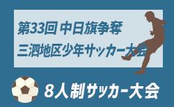 2019年度 第33回 中日旗争奪三泗地区少年サッカー大会 U-10 優勝はTSV1973四日市!三重