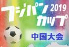 優勝はサンフレッチェ広島(4連覇) 2019フジパンカップ第43回中国少年サッカー大会 (島根開催)