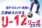 7/21結果掲載 次節は9/15開催 2019KYFA第22回九州女子サッカーリーグ